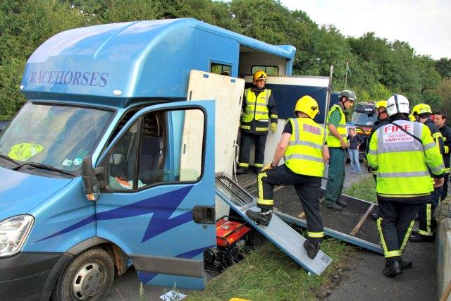 Local Fire Crews in Horse Box Rescue