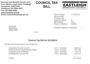Some Council Tax bills in Eastleigh have been reduced this year.