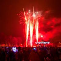 Fireworks herald Christmas in Eastleigh