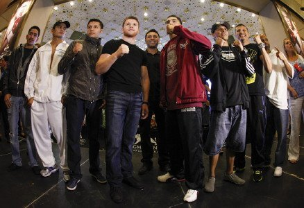 Canelo Alvarez and Josesito Lopez Arrive At MGM Grand In Las Vegas