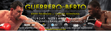 Robert Guerrero vs. Andre Berto Media Interview Transcript