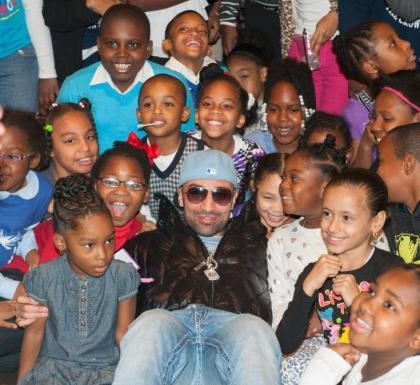 Paulie Malignaggi Gives Thanks And Visits With Brooklyn Youth At Barclays Center