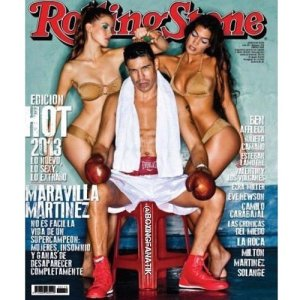 Middleweight Kingpin Sergio Maravilla Martinez on cover of Rolling Stone magazine