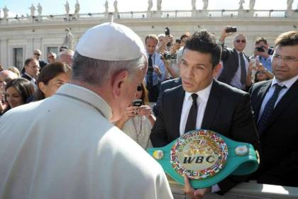 Photo: Sergio Martinez Meets The Pope
