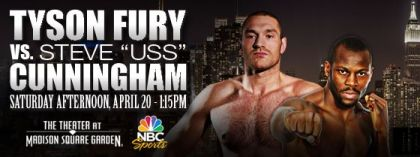 Cunningham vs. Fury undercard announced