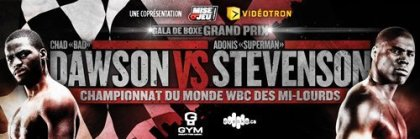 Dawson vs. Stevenson card announced for June 8 in Montreal