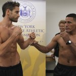 Star Boxing Weigh In:  Algieri 142  Acuna 140;  Clottey 156   Johnson 155