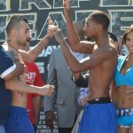 Vanes Martirosyan and Demetrius Andrade nearly come to blows at weigh in