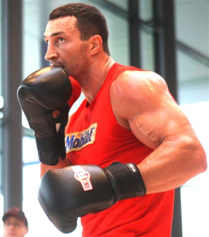 KlitschkoWladimir PublicAddress103 Photos; Klitschko   Wach Workout; Refs and Jugdes Announced