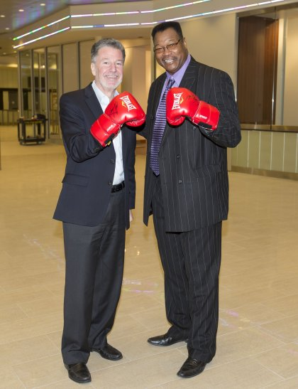 Former Heavyweight Champ Larry Holmes visits Transformed Madison Square Garden