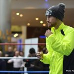Carl Frampton Interview, public training session photos