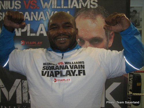 ShermanWilliams Helenius vs Williams weights from Helsinki