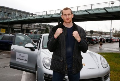 Price arrives in Stuttgart and weighs in ahead of Ruzsinsky fight