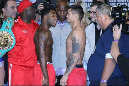 Danger Zone weigh in: Adrien Broner   144.4, Marcos Maidana   146.2