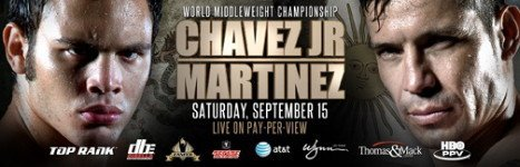 Wynn Las Vegas presents Chavez Jr Martinez on live closed circuit telecast on September 15th