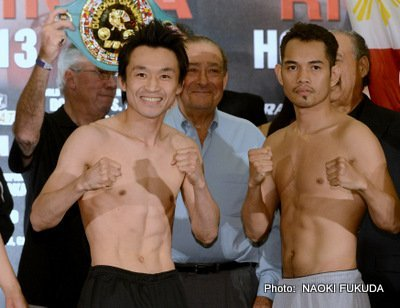 donaire663 Nonito Donaire vs. Toshiaki Nishioka & Brandon Rios vs. Mike Alvarado: Weigh in report