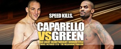 Allan Green & Blake Caparello clash for the vacant IBO Light Heavyweight World Title