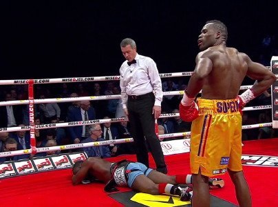 Don George Congratulates His Friend and Former Opponent, Adonis Stevenson