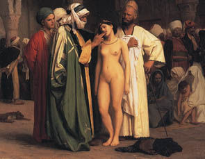 female slaves sold at auction