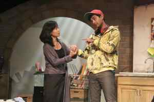 Ilana (Tess Lina) meets brilliant but awkward student Suresh (Kapil Talkwalkar).)