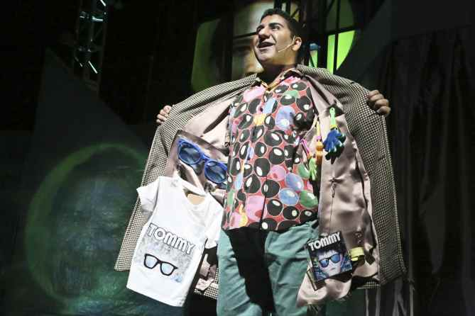 "Parvesh Cheena as Uncle Ernie in the East West Players production of ""The Who's Tommy"". Photo by Michael Lamont."