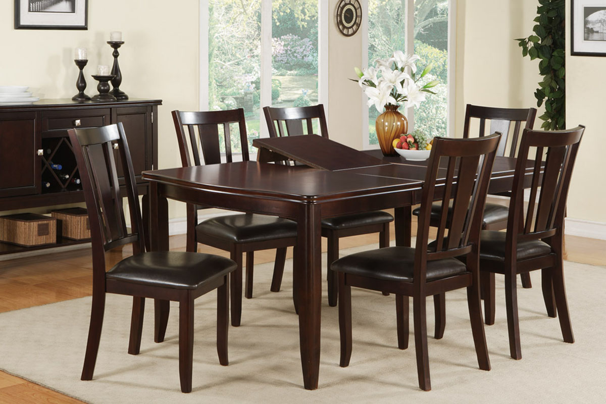7 Piece Wooden Dinning Table Set p wood kitchen table sets