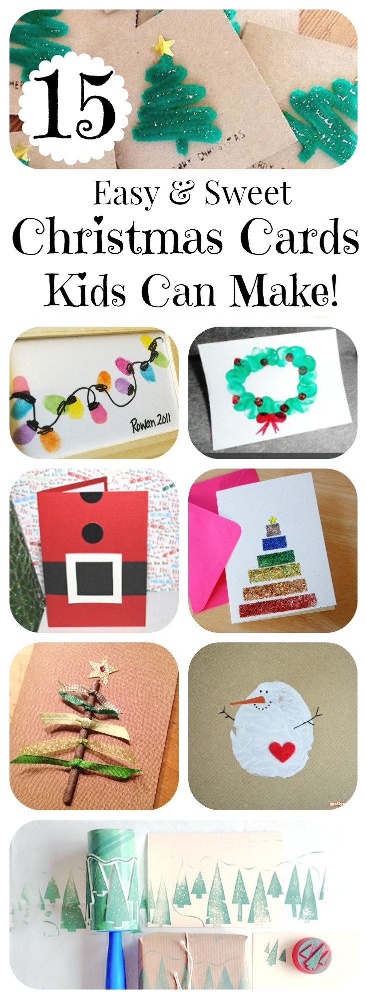 15 DIY Christmas Cards Kids Can Make!  Letters from Santa BlogLetters from S...