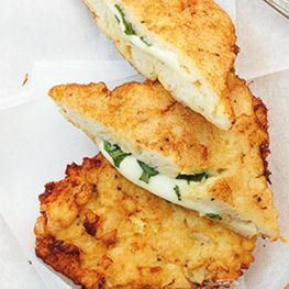 Baked Basil Mozzarella Bread Slices