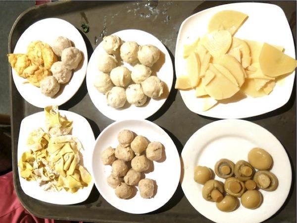 The Magic of ChongQing Hot Pot Chicken Balls, Sliced Bamboo Shoots, Wanton Dumplings, Pork Balls, Button Mushrooms