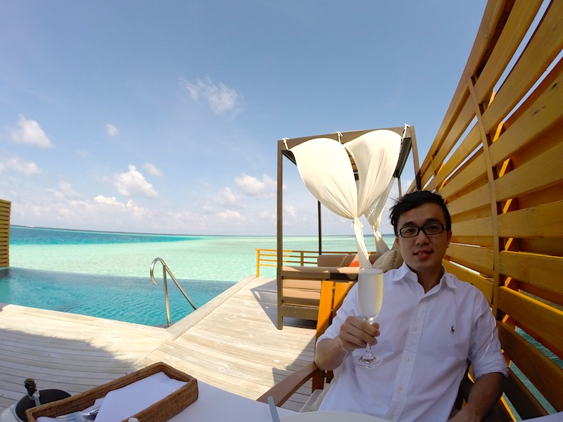 Baros Maldives Pool Water Villa In Villa Breakfast 6
