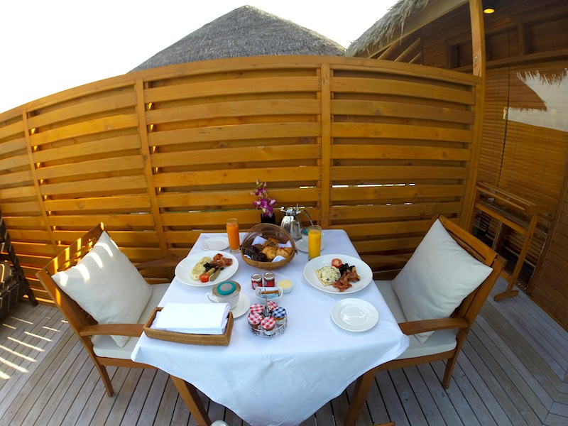 Baros Maldives Pool Water Villa In Villa Breakfast