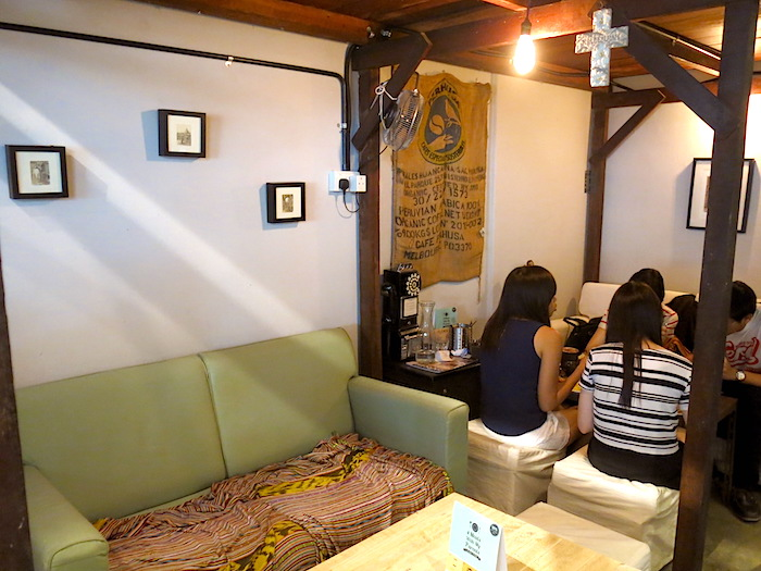 Sofa Area at Tolido's Espresso Nook