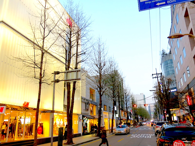 Pretty street in Garosu-Gil