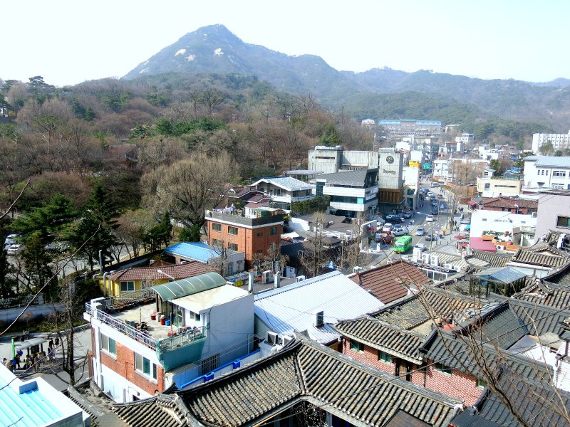 Aerial View of Samcheong-dong