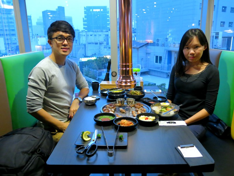 Evan and Raevian at Loco Quan 401 Restaurant