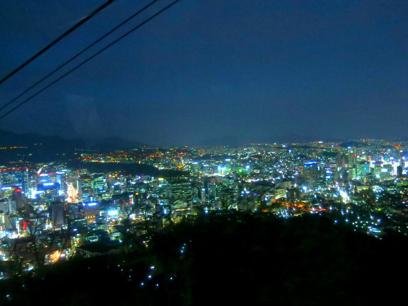 Seoul Night View from Namsan Cable Car