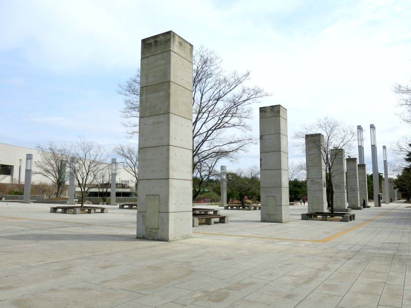 Open Plaza with Large Standalone Columns