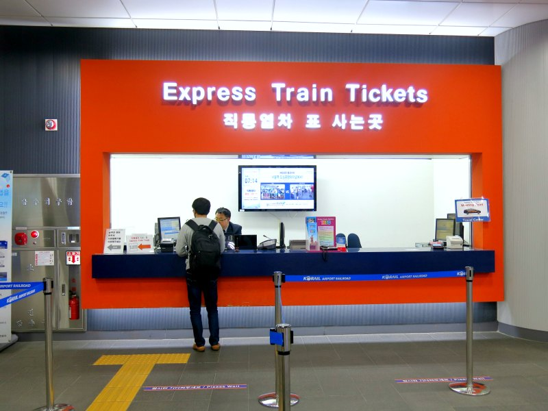 Seoul Express Train Ticket counter