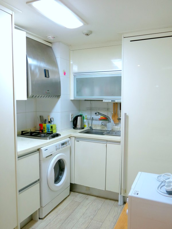 Kitchen and Washing Machine