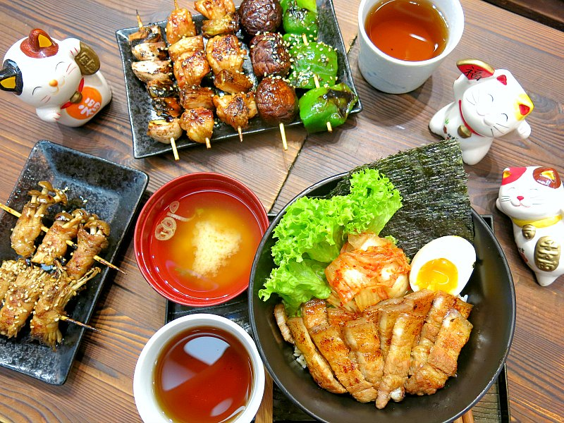 Pork Belly Don and Japanese Skewers Spread