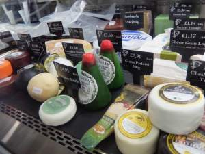 Cheese for Sale at the Food Hall
