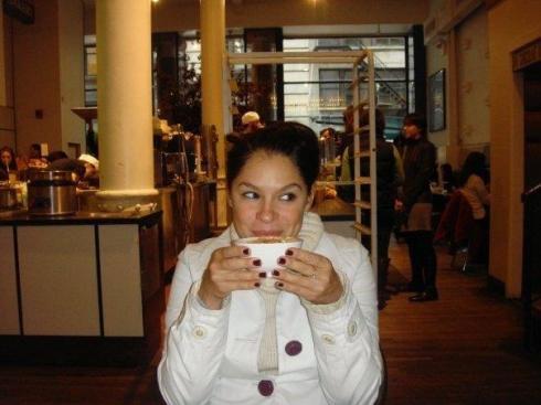 caro with mug