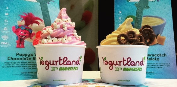 Troll Inspired Flavors at Yogurtland