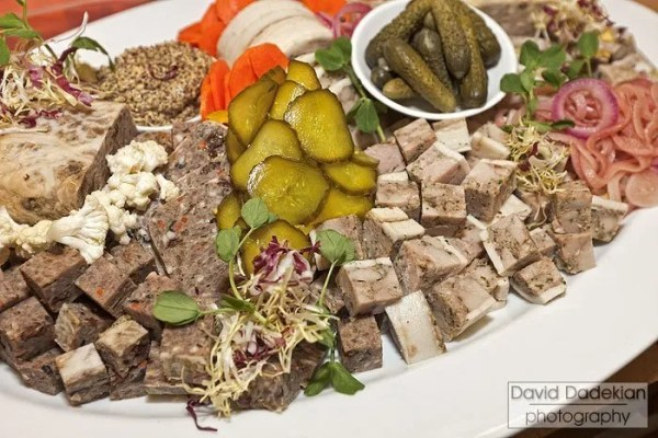 Charcuterie platter presented by Chef Matthew Varga at Gracie's Winter Wines of the World event