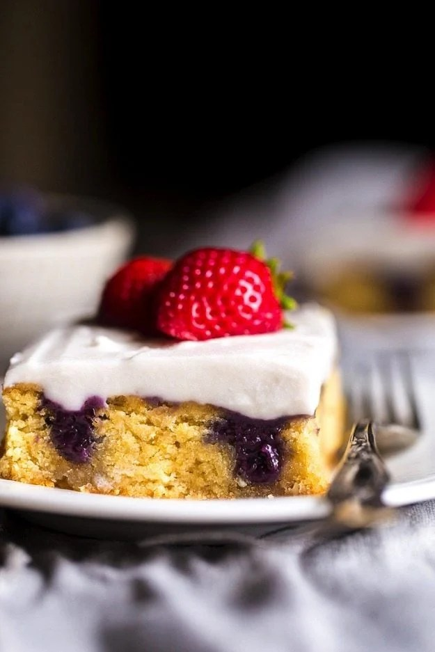 Paleo Red, White, and Blueberry Shortcake