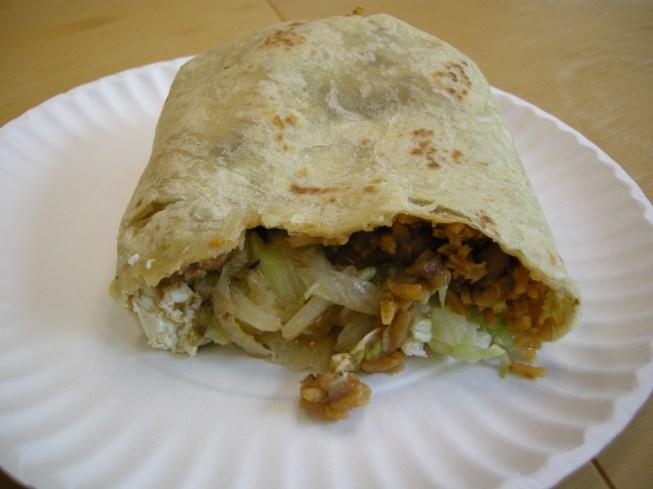 tofu burrito at Chubbys