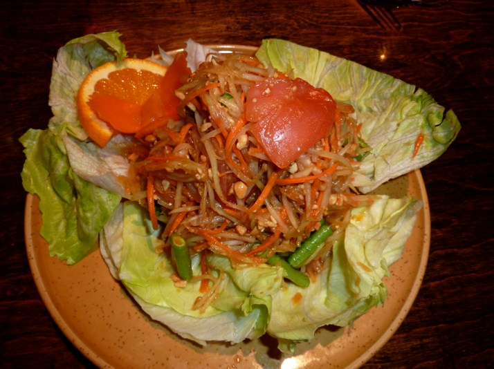 Green papaya salad called Tom Sum