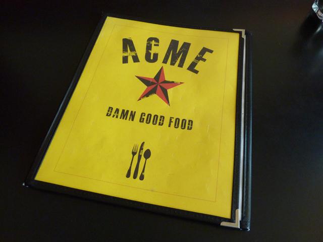 ACME menu
