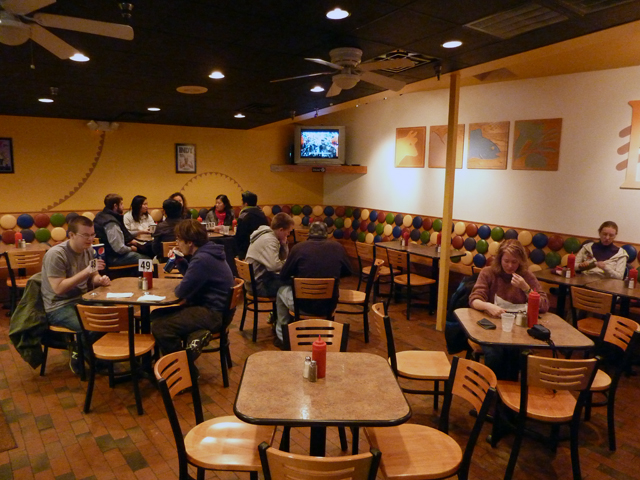 people sitting in Buns restaurant in Chapel Hill