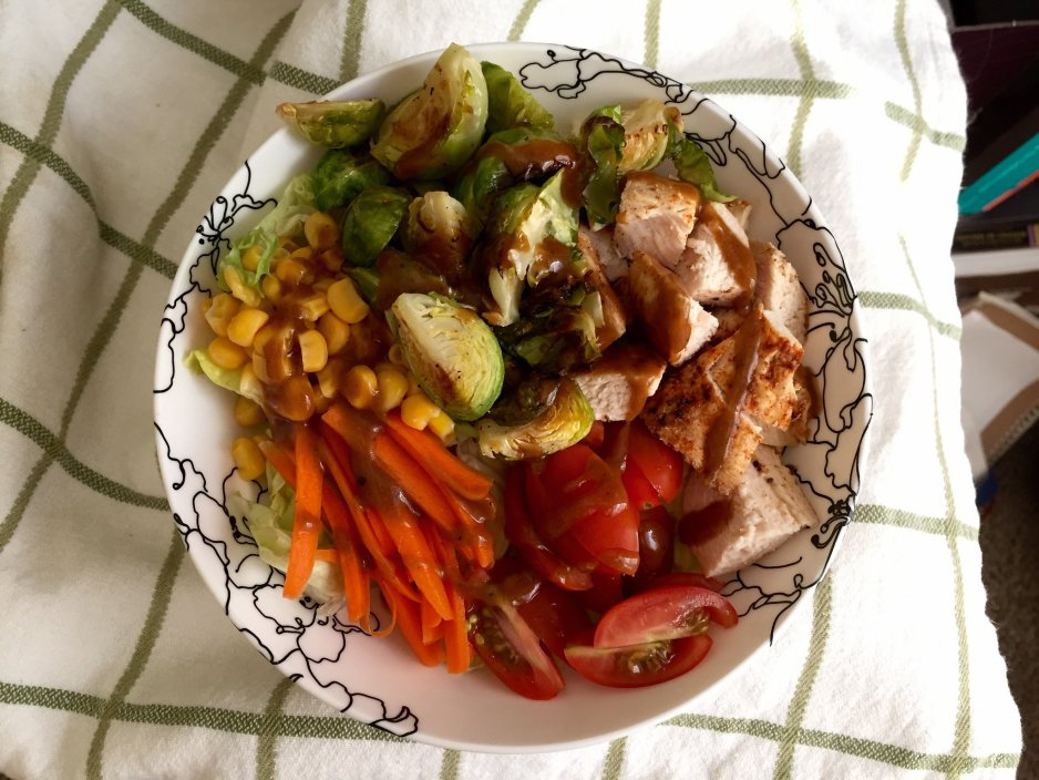 salad with leftover chicken